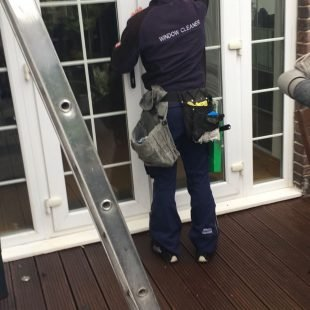 Window Cleaning by hand N Clark Window Cleaning Ltd