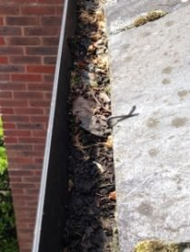 Gutter Cleaning before by N Clark Window Cleaning Ltd