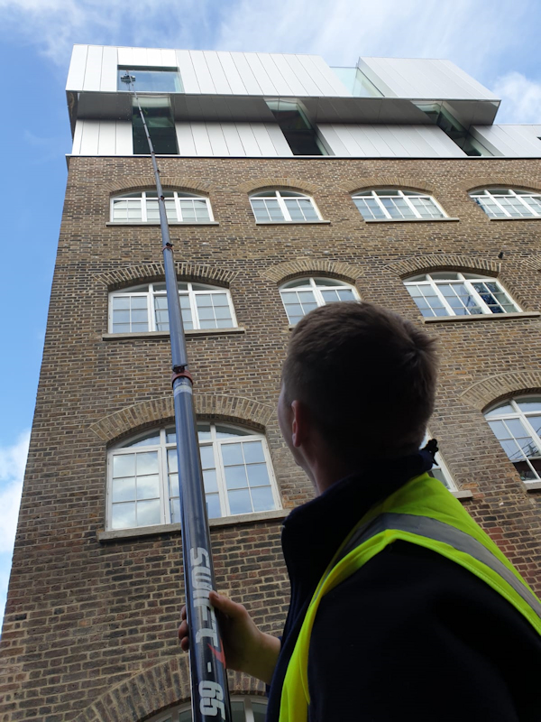Pure Water System by hand N Clark Window Cleaning Ltd